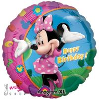 Balon folija MINNIE H.Birthday 45 cm