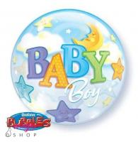 Bubble balon BABY MOON&STAR