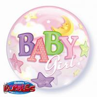Bubble balon BABY GIRL MOON&STAR
