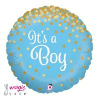 Balon IT'S A BOY glitter 43 cm