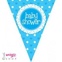 Zastavice za baby shower modre 3,9 m