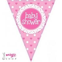 Zastavice za baby shower roza 3,9 m