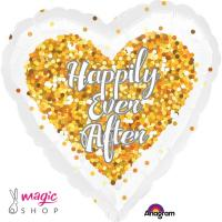 Balon za poroko Happily ever after 43 cm