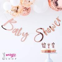Viseč napis baby shower rose gold