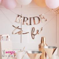 Viseč napis Bride to be rose gold